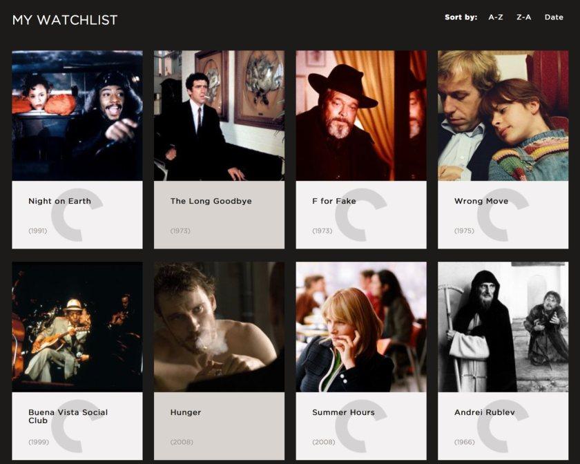 FilmStruck Watchlist