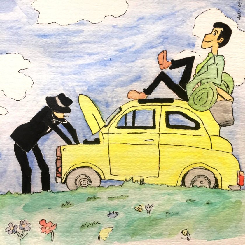 Lupin III Castle of Cagliostro Watercolor