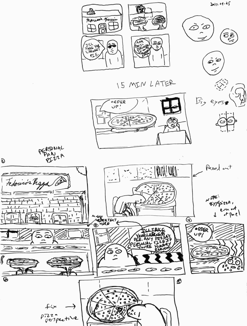 Additional Personal Pan comic sketches