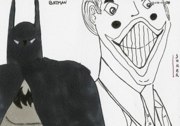 Batman & Joker (from when I was reading The Long Halloween)
