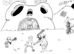Combat scene from Breath of the Wild