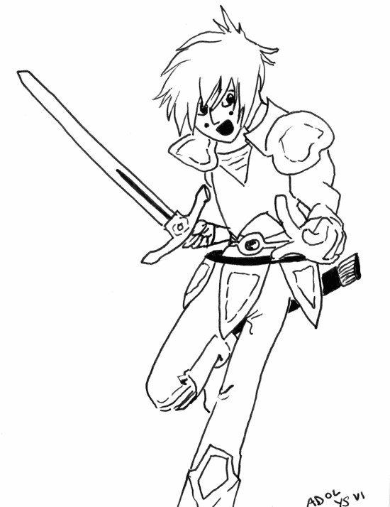 Adol from Ys VI (it'd be nice to color this one day)