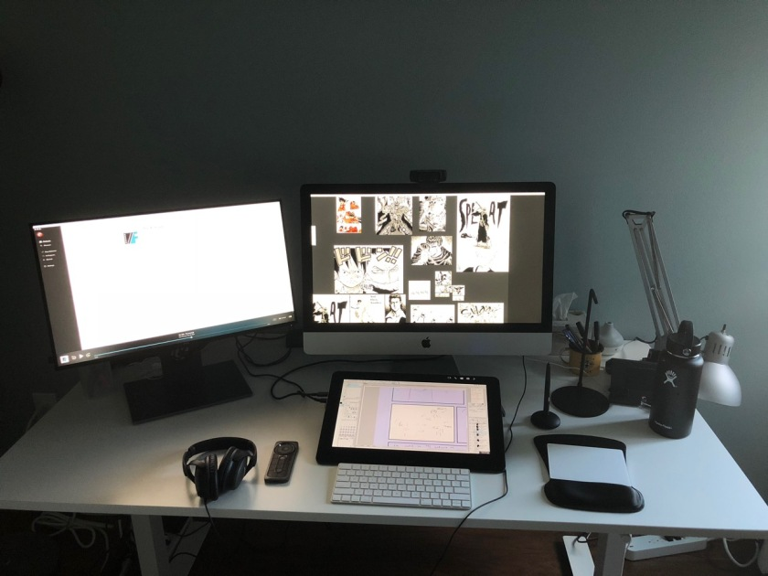 My 24-Hour Comic Challenge Workstation