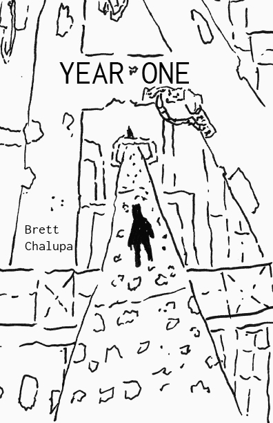 Year One cover, illustration of a figure standing on a pathway
