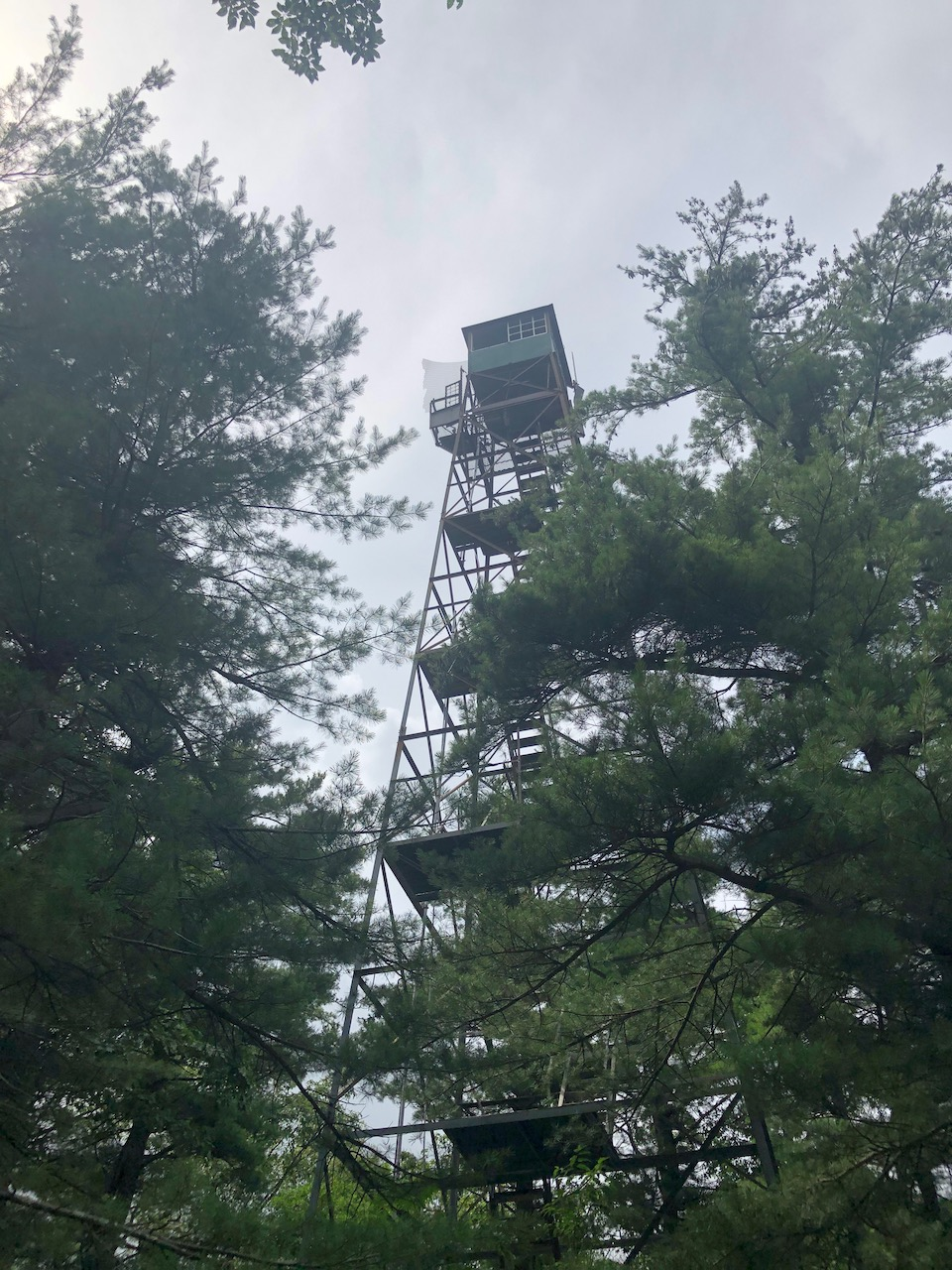 Photo of a ranger watchtower at the top of Snowy Mountain