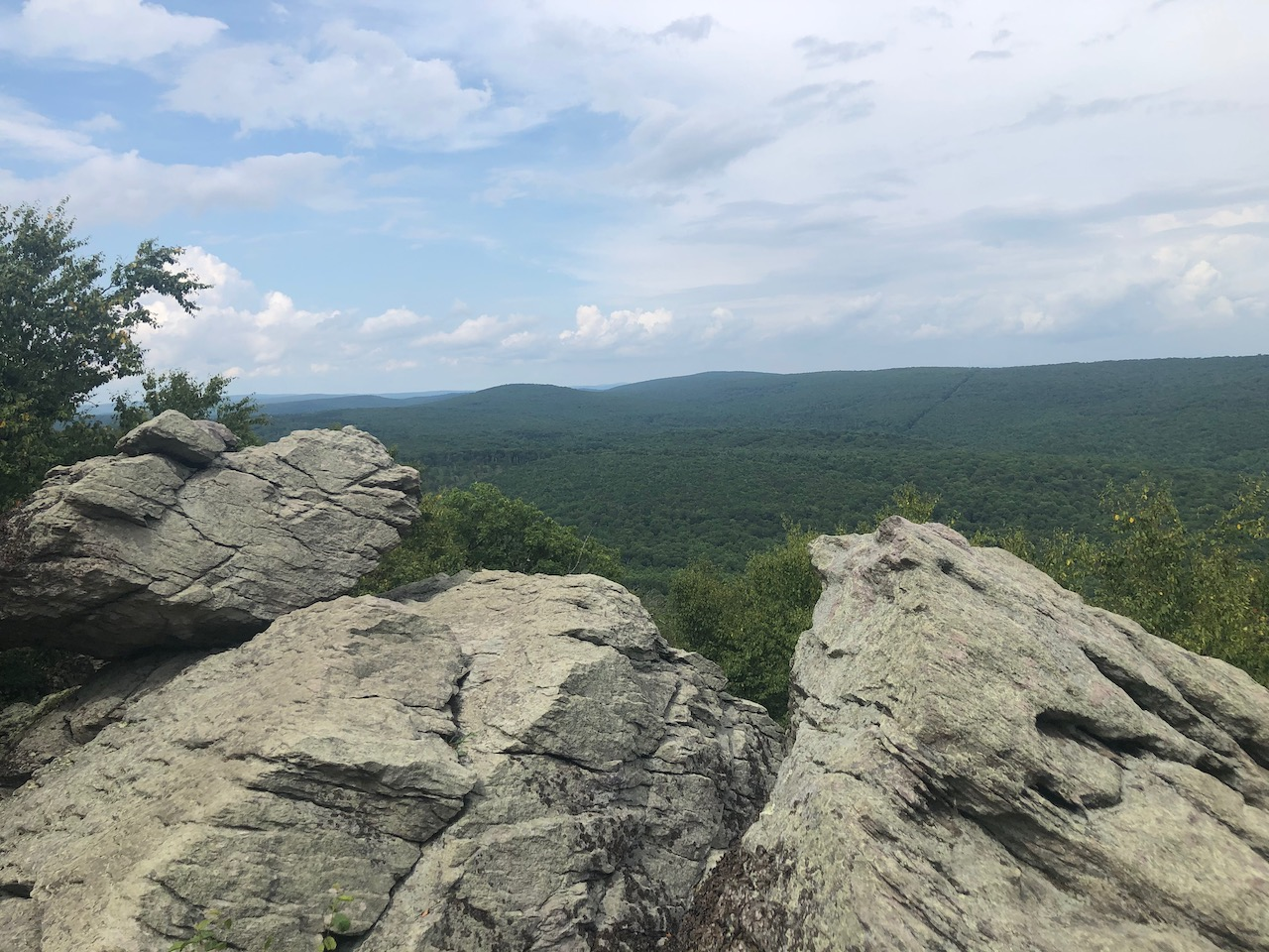 Photo of the view from Chimney Rocks